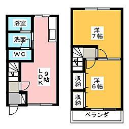 メゾンフルールI[1階]の間取り