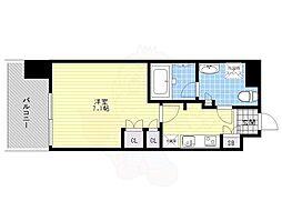 福岡市地下鉄空港線 赤坂駅 徒歩7分の賃貸マンション 4階1Kの間取り