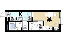 京都府木津川市相楽城西の賃貸アパートの間取り