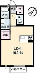 広島県広島市東区光が丘の賃貸アパートの間取り