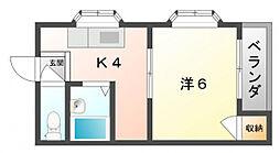 プチシャトー88[2階]の間取り
