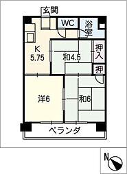 福谷ビル[4階]の間取り