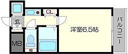 プレサンス難波WEST[6階]の間取り