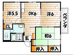 ユニゾン泉A棟[2階]の間取り