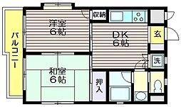 東京都調布市仙川町1の賃貸マンションの間取り