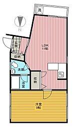 ガーデンチトセ2[3階]の間取り