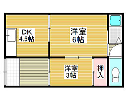 西湊文化[2階]の間取り