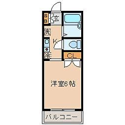 フィールドフジ[1階]の間取り