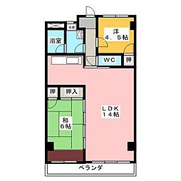 ロイヤルビル[3階]の間取り