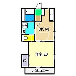 メゾンタンドル[4階]の間取り