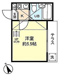 トレフィオーリ[1階]の間取り