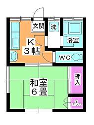 吉野ハウス[101号室]の間取り