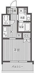 東京都渋谷区東1丁目の賃貸マンションの間取り