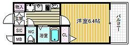 エステムコート梅田天神橋リバーフロント[12階]の間取り