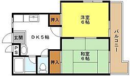 稲谷ハイツ[3階]の間取り