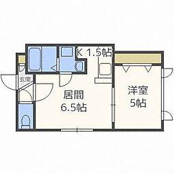 K−89[3階]の間取り