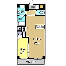 岡山県総社市中央の賃貸マンションの間取り