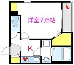(仮称)浅草3丁目メゾン 2階1Kの間取り
