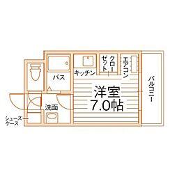 オリエンタル折尾駅[4階]の間取り