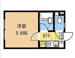 神奈川県大和市中央林間4の賃貸アパートの間取り