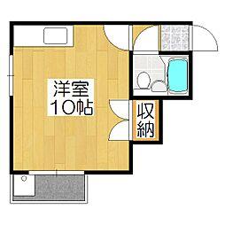 メゾン福島[4B号室]の間取り