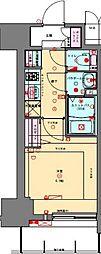 JR山陽本線 兵庫駅 徒歩2分の賃貸マンション 4階1Kの間取り