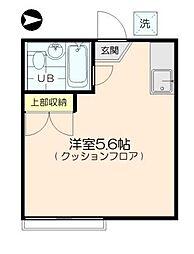 三軒茶屋アサカハイツA[102号室]の間取り