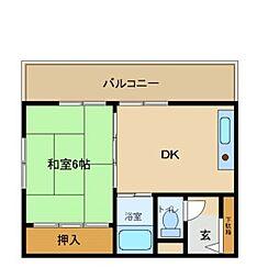 兵庫県尼崎市大庄中通1丁目の賃貸マンションの間取り