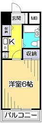 アメニティ・93[6階]の間取り