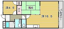 大阪府摂津市千里丘3丁目の賃貸マンションの間取り