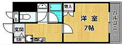 大阪府枚方市東田宮1丁目の賃貸マンションの間取り