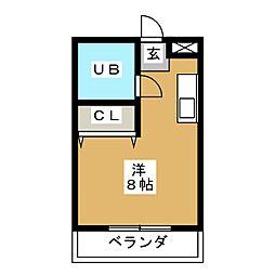 イロハビル[4階]の間取り