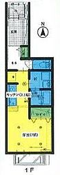 JR奥羽本線 山形駅 バス20分 桜神バス停下車 徒歩1分の賃貸アパート 1階ワンルームの間取り