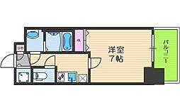 フォーリアライズ南堀江ヴィータ 2階1Kの間取り