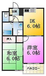 ドムスアライ壱号館[3階]の間取り