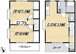 [テラスハウス] 東京都江戸川区一之江2丁目 の賃貸【/】の間取り