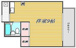 東京都世田谷区三宿1丁目の賃貸アパートの間取り