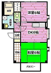 フォブール和田 B[2階]の間取り