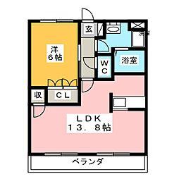 サンクエトワール[4階]の間取り