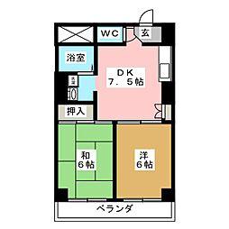 クレセール八本松[4階]の間取り