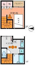 [テラスハウス] 東京都清瀬市元町2丁目 の賃貸【東京都 / 清瀬市】の間取り