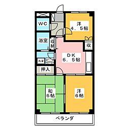 レジアスハイム遼仙II[3階]の間取り