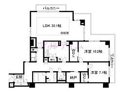 スティーロ京都東山妙法院[4階]の間取り