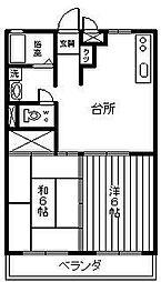 アーバンHIYOSHI[102号室]の間取り