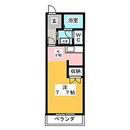 田畑ハイツ 上の段[3階]の間取り