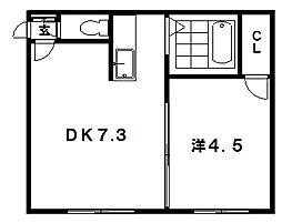 クルーズハウス環状通 205号室[205号室]の間取り