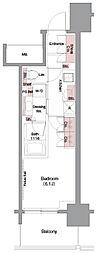 JR東海道・山陽本線 大阪駅 徒歩7分の賃貸マンション 8階1Kの間取り