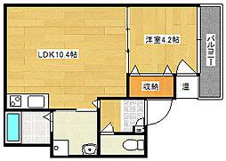 F maison COAST[302号室]の間取り