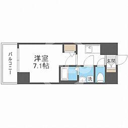 サムティ福島Rufle(ルフレ) 7階1Kの間取り