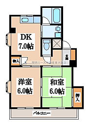 サンライフ若江東[2階]の間取り